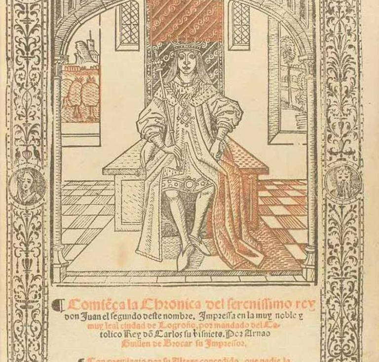 Title page of 1517 Spanish chronicle