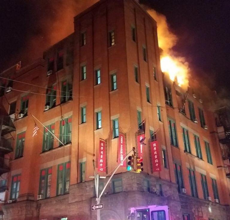 Fire Mulberry Street building