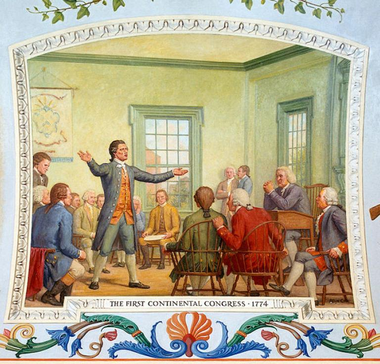 Mural in oil on canvas depicting the First Continental Congress (1774) by Allyn Cox