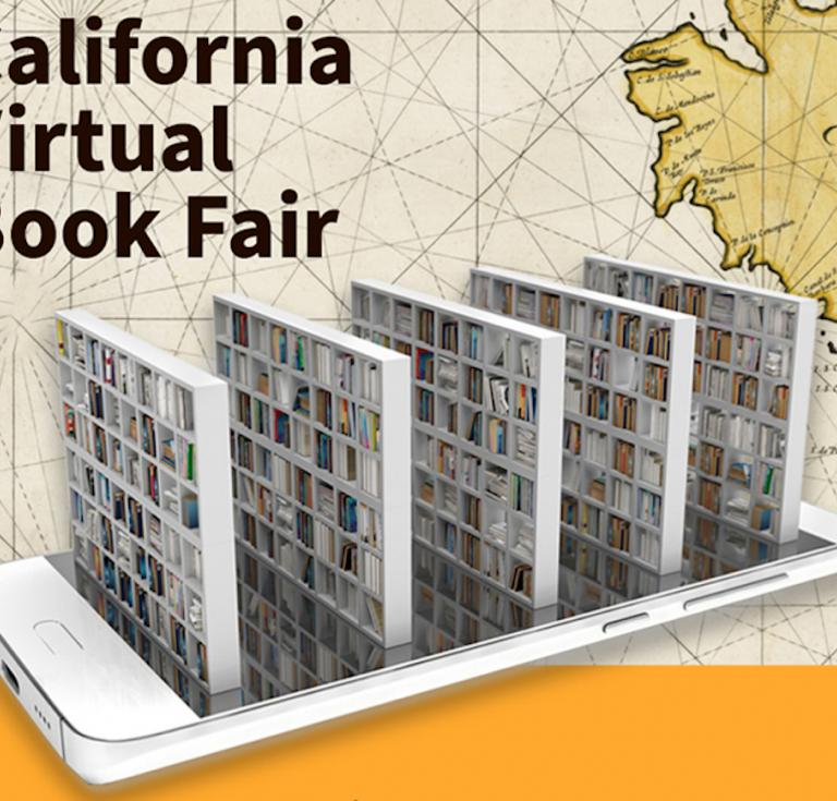California Virtual Book Fair postcard