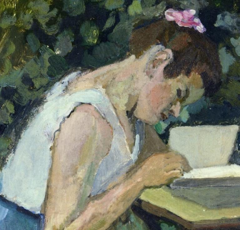 Woman Reading in a Garden (1903) by Henri Matisse