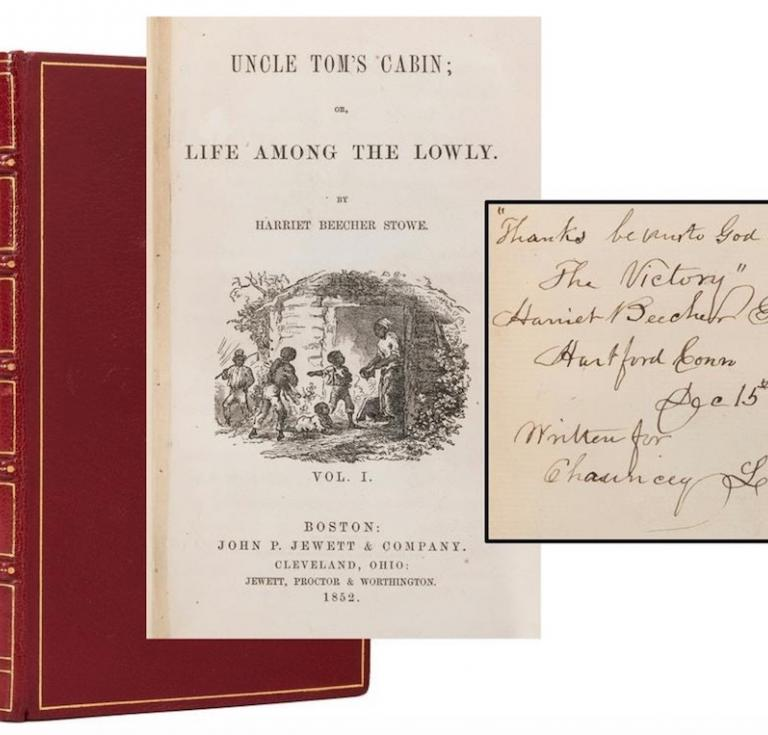 A first edition of Harriet Beecher Stowe's two-volume Uncle Tom's Cabin