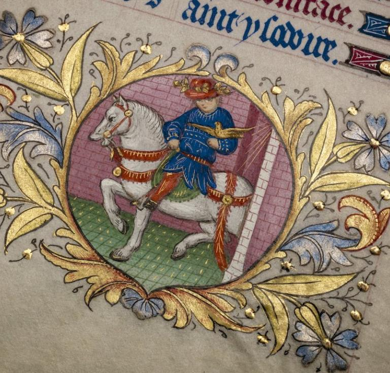 Detail from Master of the Paris Bartholomeus Anglicus Book of Hours
