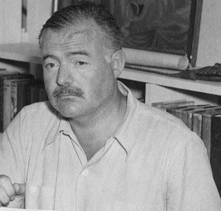 Ernest Hemingway at his home Cuba