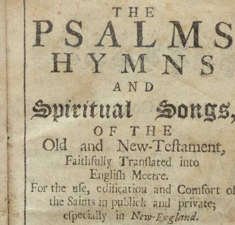 1693 Bay Psalm Book title page