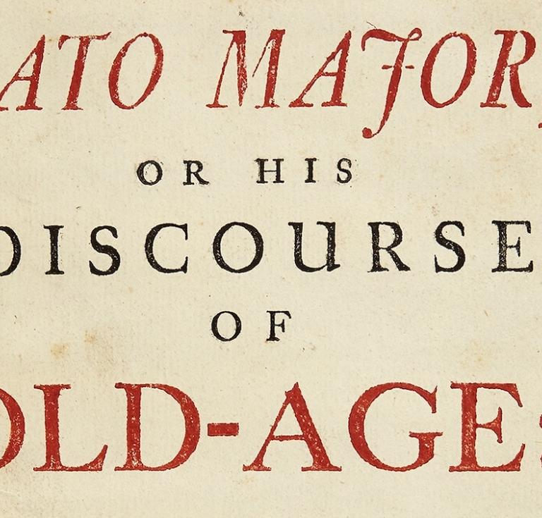 Title page for Cato Major (1744)